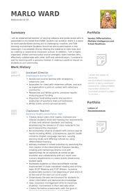 Assistant Director Resume samples