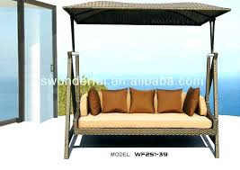 patio swing bed with canopy new for full daybed outdoor porch wooden