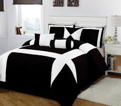 bedroom black white tree pattern comforter and sets full tufted pillowcase combined bed set best
