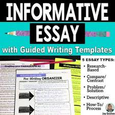the best informative essay ideas informational  informative essay writing 5 informational essays w guided writing templates 6 8