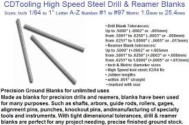 drill bit sizes fractional inch. drill blanks high speed steel fractional 1/64 to 1 inch letter a z number 60 metric 1.0mm 25.4mm bit sizes
