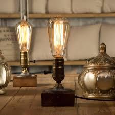 yuenslighting e27 vintage wood blocks table lamp desk light for cafe bar studio