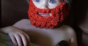 10pcs Crochet <b>Children's</b> cartoon vikings horn hat with Bearded face ...