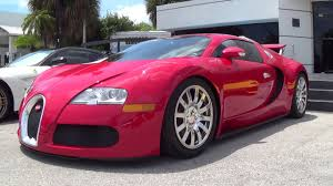 Red Bugatti Veyron Exterior and Interior Walkaround - YouTube