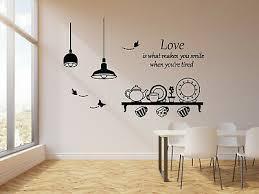 vinyl wall decal quote kitchen utensils
