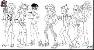 Small Picture Monster High Coloring Pages Pdf Coloring Book of Coloring Page