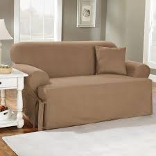 sure fit cotton duck t cushion sofa slipcover hayneedle captivating sleeper 7 kitchen sleeper sofa slipcover