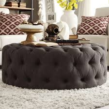 Knightsbridge Round Tufted Cocktail Ottoman with Casters by iNSPIRE Q  Artisan - Free Shipping Today - Overstock.com - 16765472