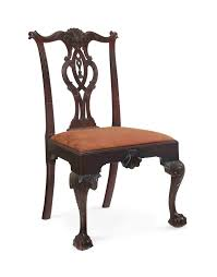 chippendale side chair. A CHIPPENDALE CARVED MAHOGANY Chippendale Side Chair