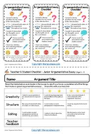 how to write an excellent discussion argument literacy ideas junior checklists