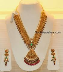 bridal gold necklace by grt jewellers