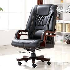 executive bonded leather office chair ergonomic home techni mobili with lumbar support