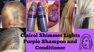 Shimmer Lights Shampoo Before And After Clairol Shimmer Lights Purple Shampoo And Conditioner Before And After