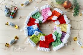 Crochet Christmas Ornaments Patterns New Crochet Christmas Stocking Ornaments Pattern No 48 Zoom Yummy