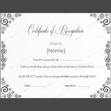 Free Word Certificate Template | Trattorialeondoro