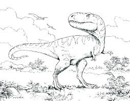 Printable Dinosaur Coloring Pages Free With Names Cute Simple Book