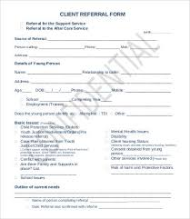 Referral Form Templates Referral Form Template 9 Free Pdf Documents Download Free