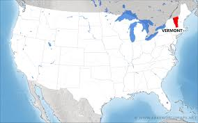 where is vermont located on the map
