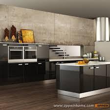 Contemporary Black Lacquer Kitchen Cabinet OP15-L15