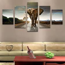 5 pcs no frame elephant painting canvas wall art picture home decoration living room canvas print