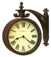outdoor wall clocks miller two sided wall clocks indoor outdoor clock