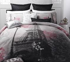 logan mason ma cherie paris eiffel tower queen size bed doona quilt cover set