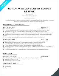 Web Designer Cv Example Uk Senior Developer Resume Template