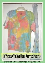 DIY Tie-Dye T-Shirts | How To | Tutorial /How to Tie Dye Using Acrylic  Paints - YouTube