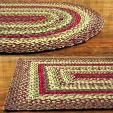 black braided rug runner ll bean rugs area red and woven round l black star braided rugs
