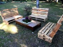 pallet outdoor furniture plans. Pallet Outdoor Furniture Seating Set Table Plans L
