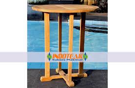teak round bar table java premium teak furniture