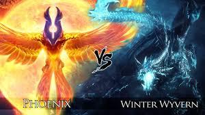dota 2 phoenix vs winter wyvern one click battle youtube