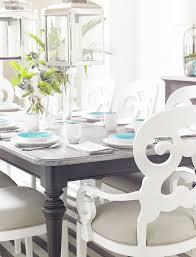 Coastal Living Retreat Saltbox White Rectangular Leg Dining Room