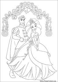 Tekeningen Te Schilderen Kleur Prinses Kikker Print Design 060