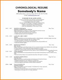 Sample Chronological Resume 100 chronological resume examples cio resumed 40
