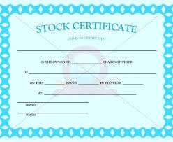 Stock Certificate Template Stock Certificate Template Excel Corporate Share Printable