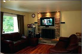fireplace flat screen can you place a above wood burning stove flat screen over fireplace think