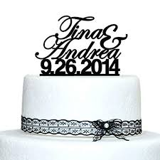 Custom Wedding Cake Topper Personalized Name Cake Topper Date Cake Topper Proposal Cake Toppers