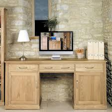 Picture mobel oak large hidden Pedestal Desk Ablerhome Mobel Oak Large Hidden Office Twin Pedestal Desk