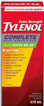 Tylenol Complete Cold Cough Flu Plus Mucus Relief Syrup