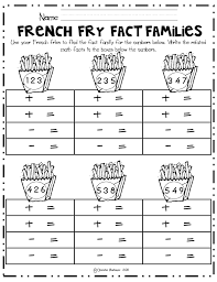 Fact Family Worksheets For 2Nd Grade Worksheets for all | Download ...