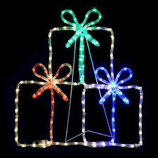 christmas rope lighting. Christmas Rope Lights Decoration Multi-Color Gift Boxes 60cm Silhouette Holiday #Unbranded Lighting