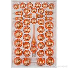 39 Tlg Glas Weihnachtskugeln Set In Hochglanz Orange