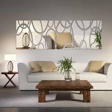 living room wall art decor awesome acrylic mirror wall decor art 3d diy wall stickers living