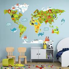 R00388 adesivo murale per bambini wall art scimmiette all