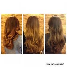 Red Blonde Brunette Ombre