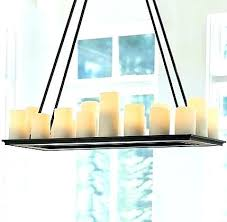 candle chandelier rectangular