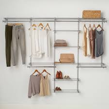 rubbermaid configurations closet kits deluxe anium organizer wire inexpensive organizers hanging systems closetmaid accessories wood shelving wall mounted