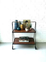 wooden tea cart wheels trolley with vintage coffee table wheel repair ant metal kitchen on metal serving cart wheels vintage