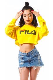 fila yellow top. yellow f crop fila top .